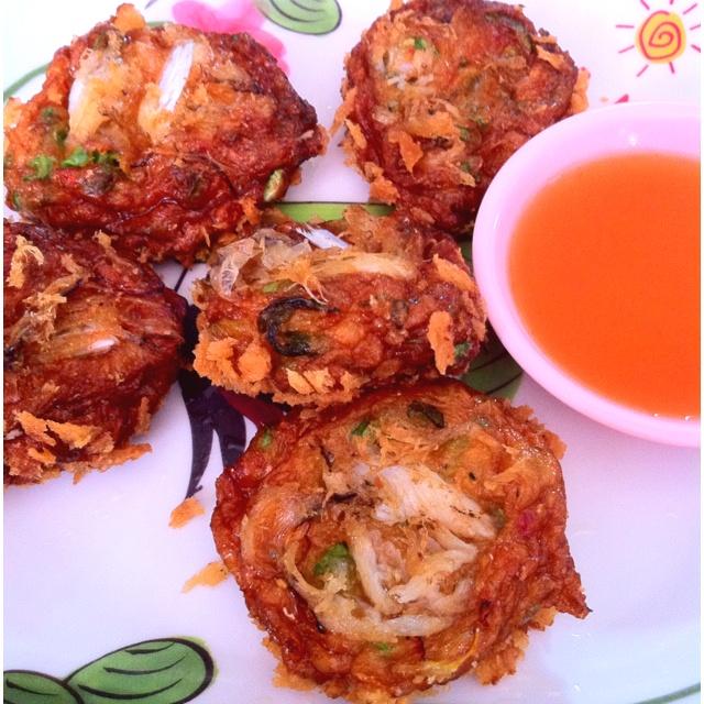 Thai food - fried crab cake