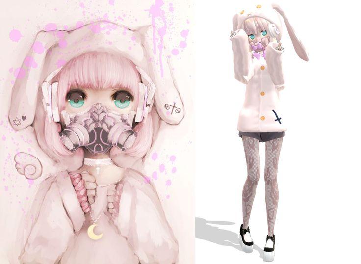 Cute Little Dolls Wallpapers Mmd Bunny Pastel Goth By Ameschka On Deviantart Kawaii
