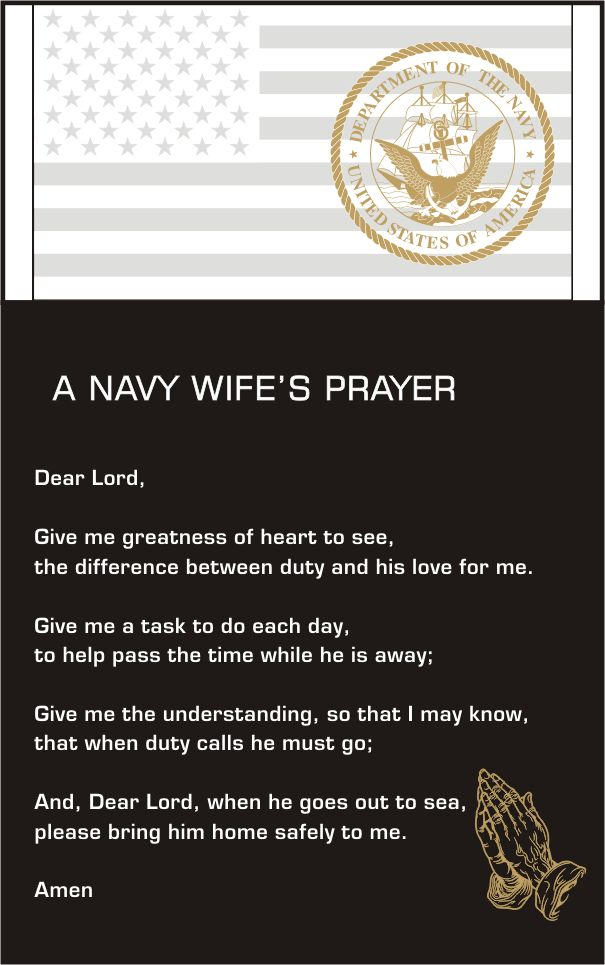 Navy Wife's Prayer