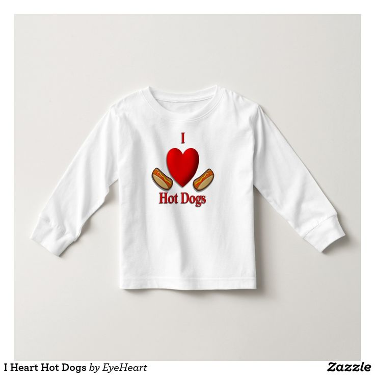 I Heart Hot Dogs Toddler T-shirt New Twist design    15% Off