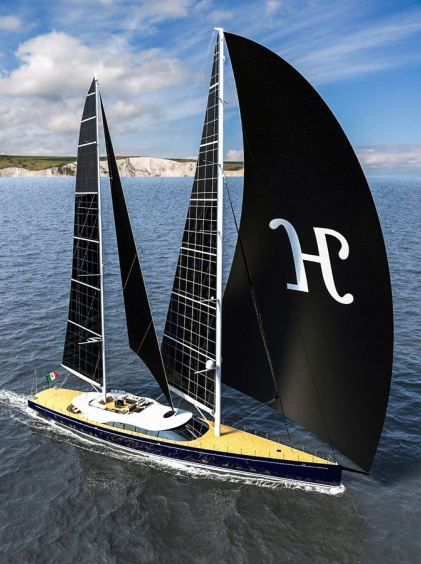 Helios – a 55m Luxury Ketch-rigged Sailing Yacht with Solar Sails