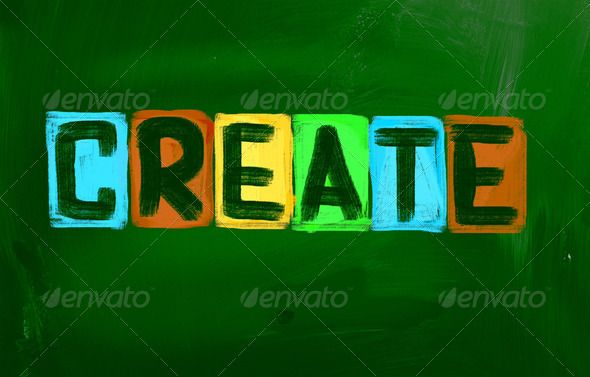 Create Concept ...  artistic, blackboard, build, construct, create, creativity, design, genius, ideas, imagination, imagine, initiative, innovate, innovation, inspire, invent, letters, phrase, problem solving, text, word
