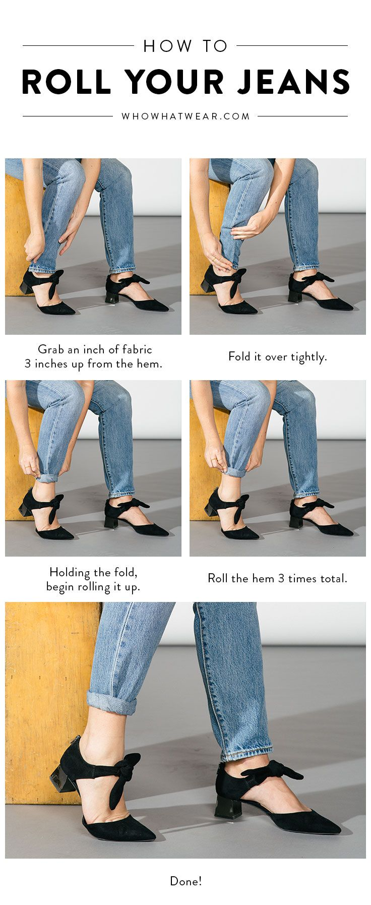Here's a step-by-step guide to how you should be rolling your jeans.