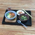 『焼肉屋さんでランチ♪②』●石焼きビビンバ・たまごスープ等●ミニチュアフード