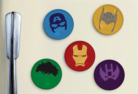 Avengers Magnets  Thor Iron Man Captain America Hulk