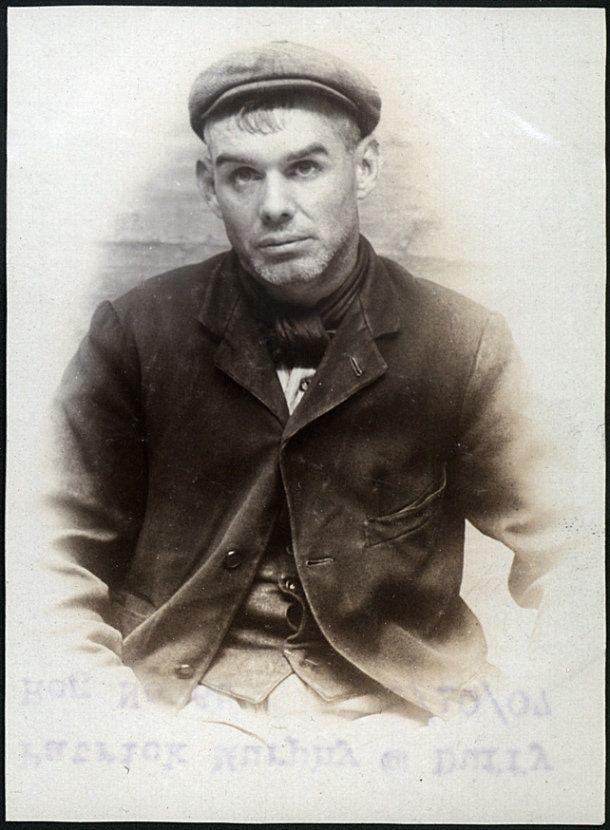 "https://flic.kr/p/rJpXsc | Patrick Murphy alias Duffy, arrested for stealing a sovereign | Name: Patrick Murphy alias Duffy Arrested for: not given Arrested at: North Shields Police Station Arrested on: 5 October 1907 Tyne and Wear Archives ref: DX1388-1-111-Patrick Murphy AKA Duffy  For an image of his accomplice Thomas Ward please see www.flickr.com/photos/twm_news/23114652176.  The Shields Daily News for 5 October 1907 reports:  ""THEFT OF A SOVEREIGN AT NORTH SHIELDS. BAD CHARACTERS ..."