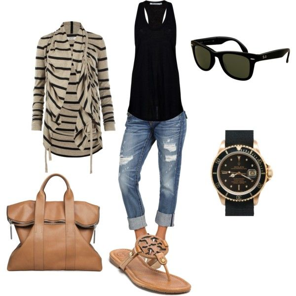 YAY SPRING: Shoes, Casual Summer, Style, Tory Burch, Summer Outfits, Sandals, Boyfriends Jeans, Casual Looks, Casual Outfits