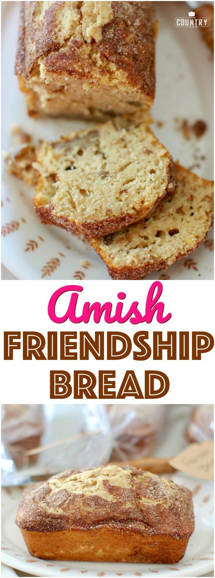 No-Starter Amish Friendship Bread recipe with Stevia In The Raw®️ from The Country Cook #ad #Amish #bread