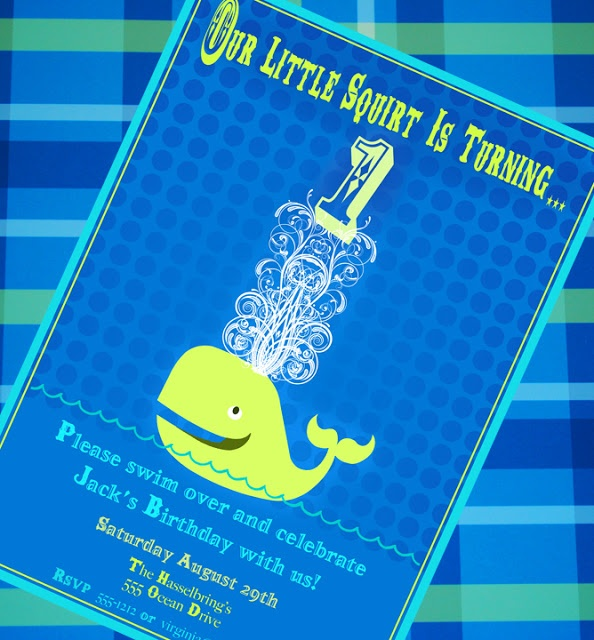Little Squirt Whale Party + Party Giveaway! - Kara's Party Ideas - The Place for All Things Party