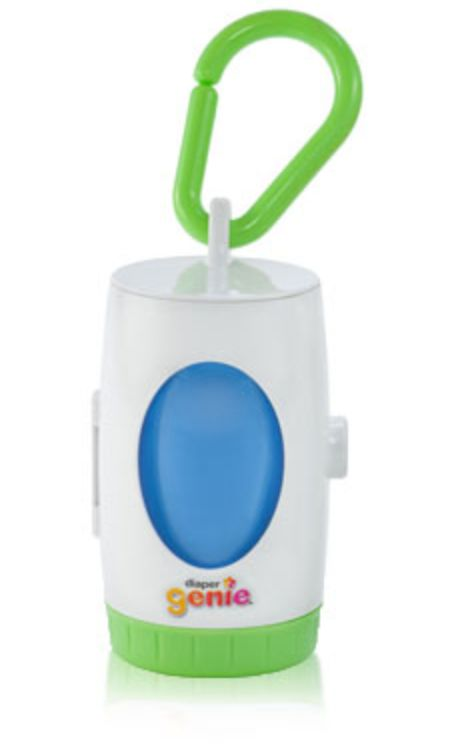 MINI diaper genie for the diaper bag. Put dirty diapers in the bags when you are out and about, or at someones house. I don't have this brand but I love mine and it also comes in handy for dirty clothes that he pooped or peed on too!