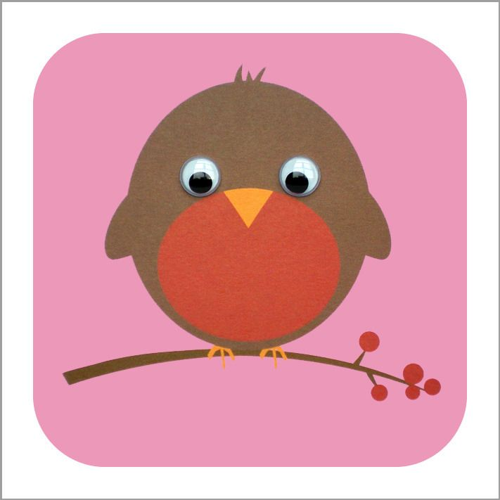 Robin card with googly eyes!
