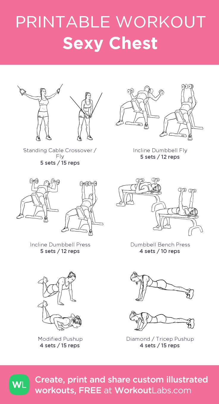 Sexy Chest: my custom printable workout by @WorkoutLabs #workoutlabs #customworkout  ****(missing flat fly dumbbell (4-10) & Low to High Cable Fly (4- 12))****