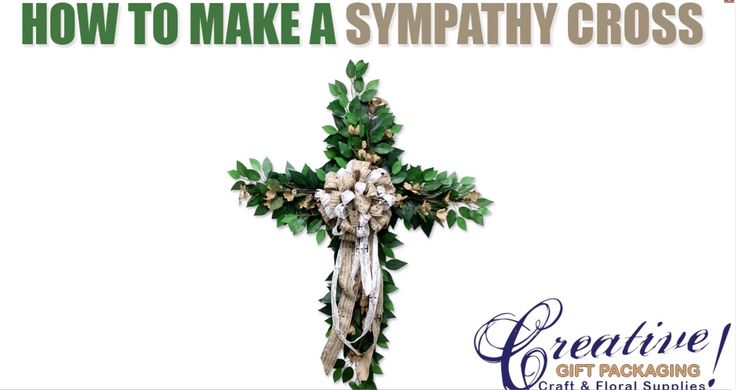 How to make a Sympathy Cross for a funeral Cross Wreath - YouTube