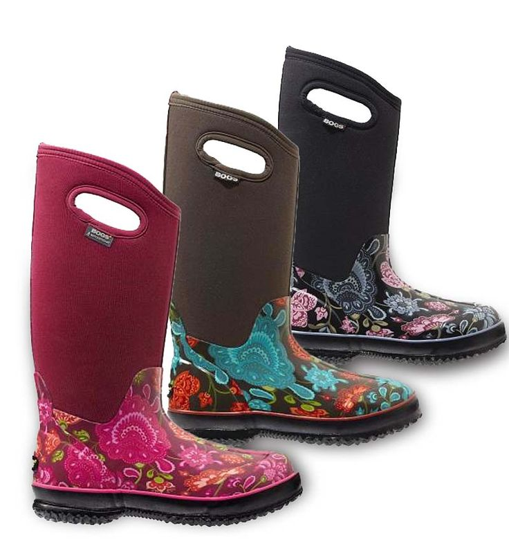 BOGS° Women's Winter Blooms Tall Boots - stay warm and dry in any weather. Practical and stylish with neoprene uppers and great color.