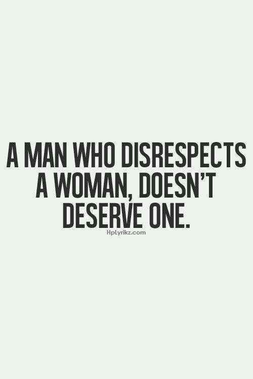 women don t respect men