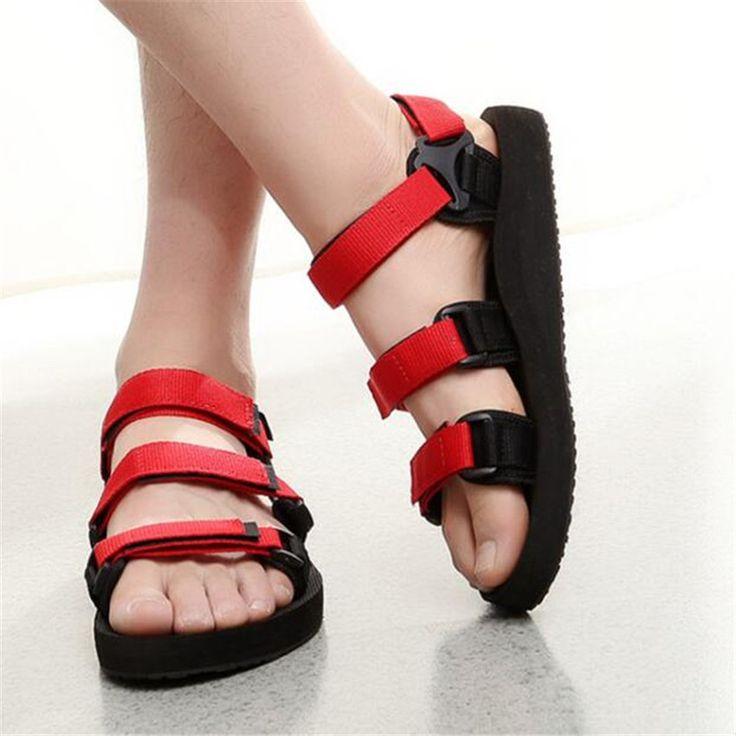 Cheap El nuevo 2017 gran base de playa zapatos antideslizantes verano ocio de los hombres respirables zapatillas cool de Roma, Compro Calidad Sandalias de los hombres directamente de los surtidores de China: