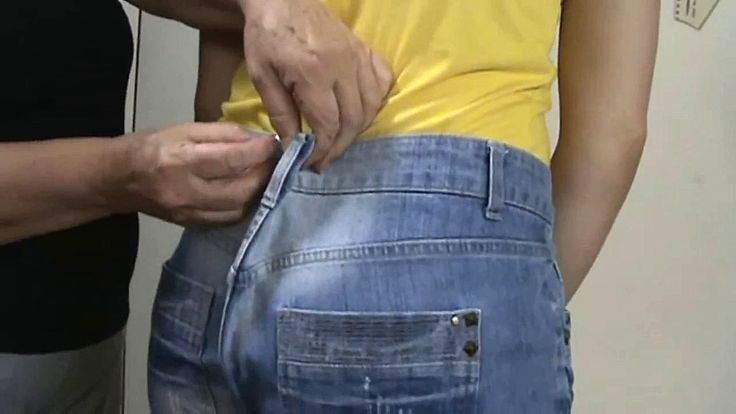 A maneira certa de ajustar  a calça jeans vídeo aula   ( parte 1