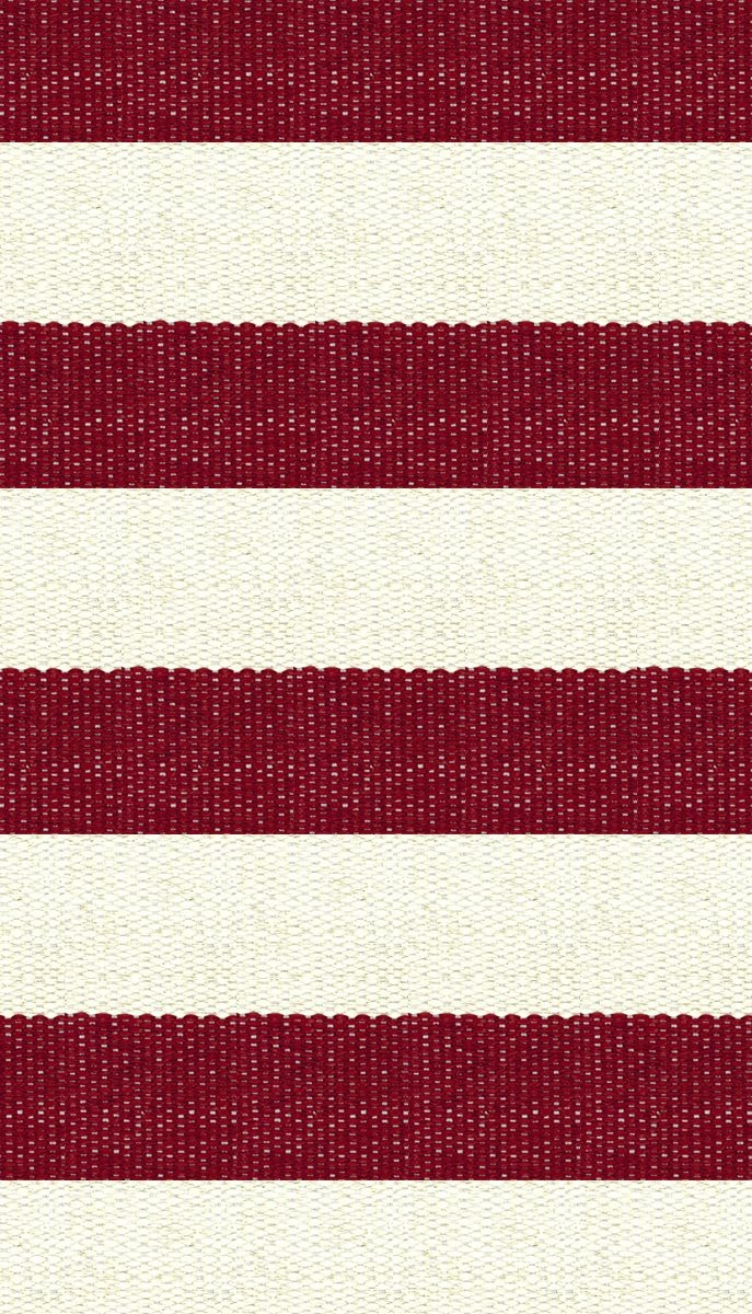 Hampton indoor outdoor pvc rug red and cream outdoor for Cream and red rugs