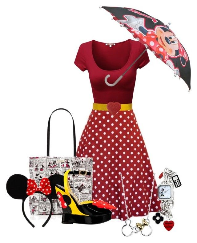 Untitled #277 by xxglaciaxx on Polyvore featuring Kate Spade, Disney, Cédric Charlier and Anya Hindmarch