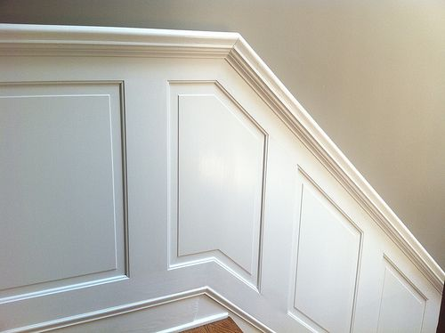 DIY Staircase Wainscoting and Handrail inspiration
