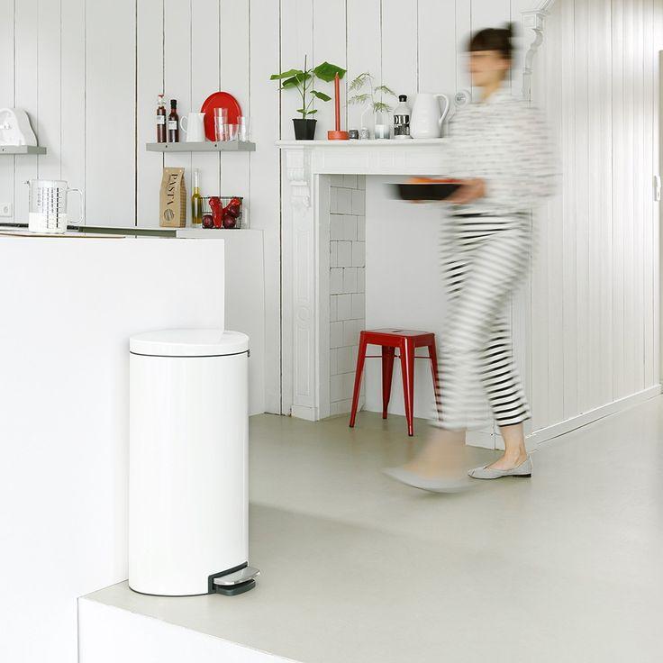 FlatBack+, 30 litres - White - Poubelles et corbeilles à papier - Gestion des déchets  | Brabantia