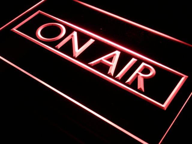I480 Na Studia Nagraniowego Powietrza DOPROWADZIŁY Znak Światła Neon On/Off Przełącznik 7 Kolory