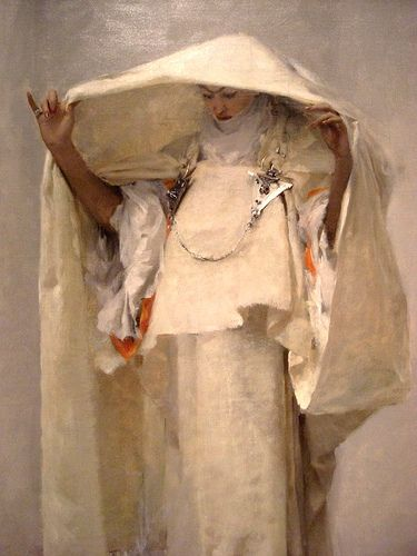 John Singer Sargent: Fumee d'ambre gris (Smoke of Ambergris) (1880) This would make a fabulous art doll!