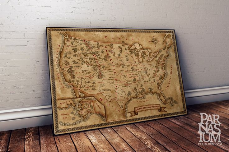 Fantasy Map of USA, Old Map of USA