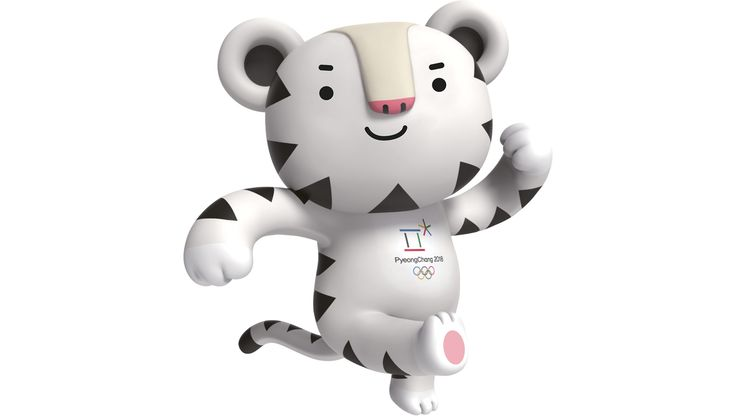 """Meet the new mascot for the Olympic Winter Games PyeongChang 2018, a white tiger named """"Soohorang."""""""