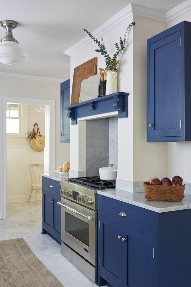 True Blue Kitchen Paint Color Ideas Popular Kitchen Colors Kitchen Paint Colors Farmhouse Kitchen Design