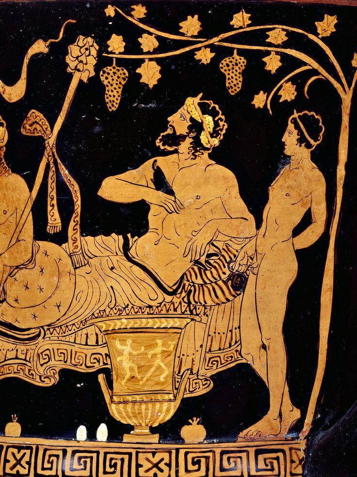 Cratere apulo con scene dionisiache, particolari, IV a.C. Museo Archeologico Nazionale Jatta, Ruvo di Puglia. Cultura greca e magno-greca