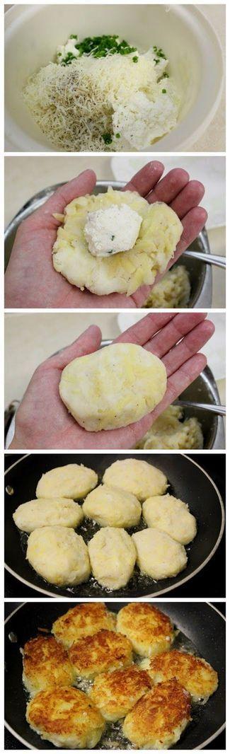 Potato Pampushki With Cheese Filling | Cookboum