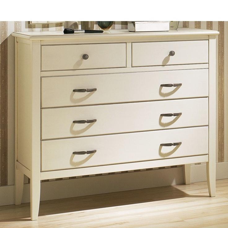 C moda de madera maciza de haya con 2 cajones peque os y 3 m s grandes ideal para habitaciones - Dormitorios juveniles de madera maciza ...
