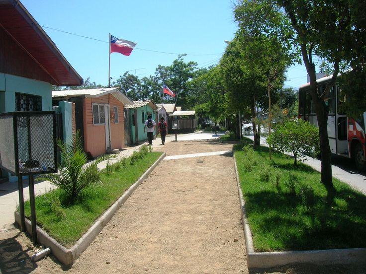 Veredón calle Baquedano. Barrio Irene Frei, Rancagua 2012. Junto a equipo MINVU región de O´Higgins