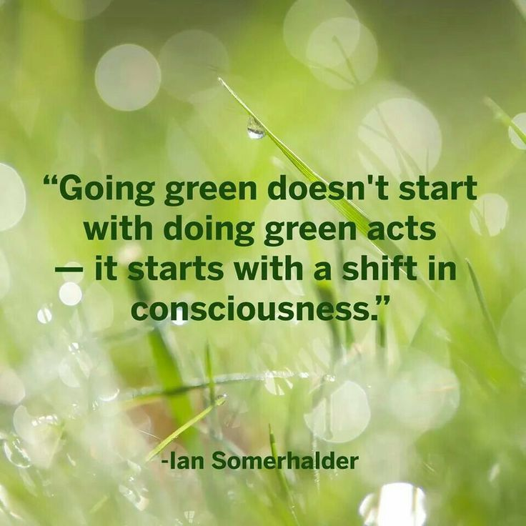 Going Green Positiveaffirmation Green Quotes Go Green Green Inspiration