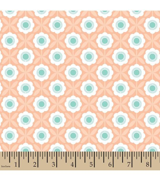Elizabeth olwen cotton fabric crossed floral whimsy for Floral nursery fabric