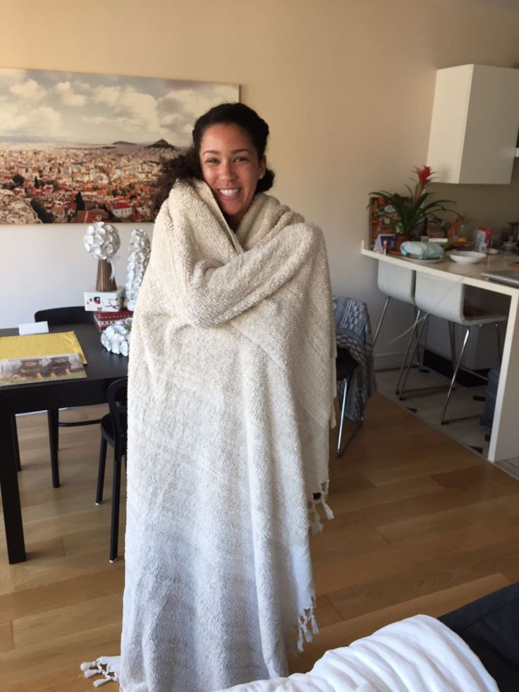This is Jen, who was kind enough to share a picture of herself wrapped in her brand new thick linen blanket. Cozy!!! Thanks for sharing Jen!! #jennifershamam #linen #blanket #handmade #handwoven #weaving #istanbul #Turkey