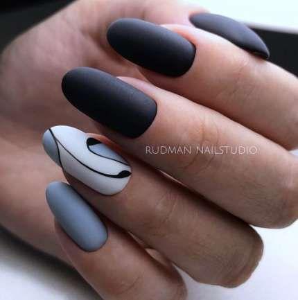 Nagelkunst schwarz oval 33 Beste Ideen – & nails