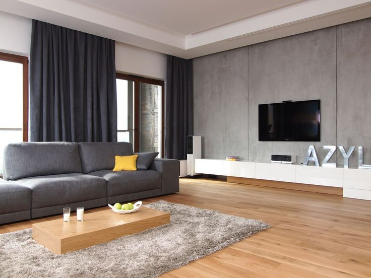 Living Room Interior Screen Flat Tv Hanging On Grey Wall In Design To Color Best Contemporary Decorate Decorating