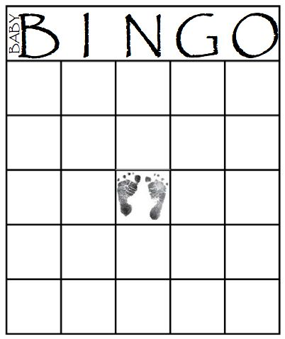 49 Printable Bingo Card Templates Baby Shower Pinterest Baby