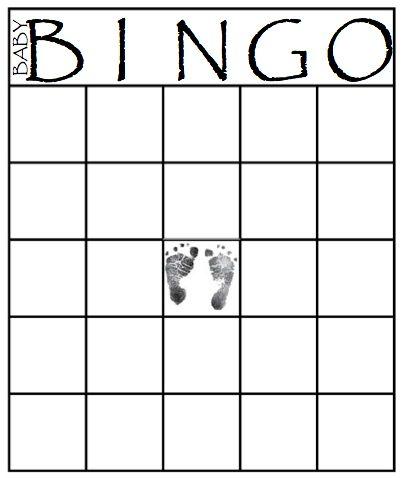 Blank Baby Bingo Cards – Printable Editable Blank Calendar 2017