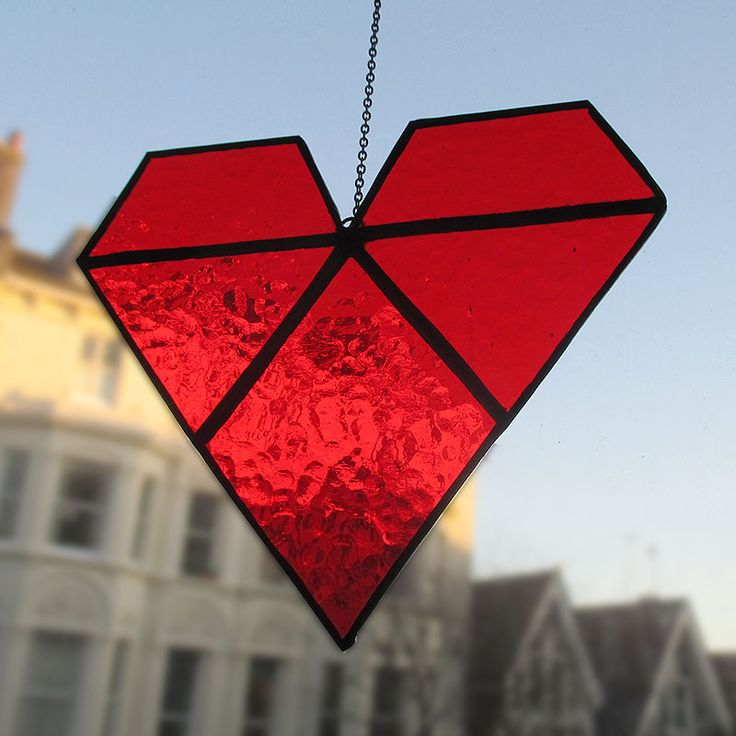 Stained Glass Geometric Heart