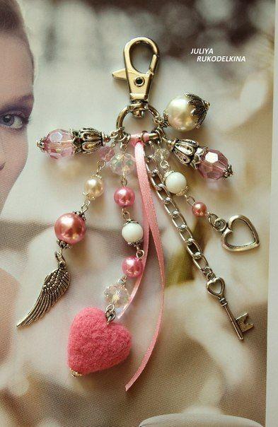 """Купить Брелок """"Валентин"""" - подарок влюбленным, сердце, хороший подарок, стильный брелок, модный брелок"""