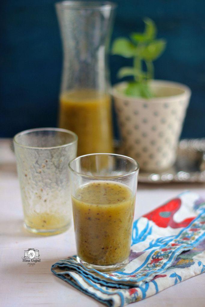 Kiwi Ka Panna Recipe (Indian Style Kiwi Sherbet)
