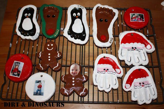 Salt Dough Christmas Ornaments for Kids. {Dirt & Dinosaurs}