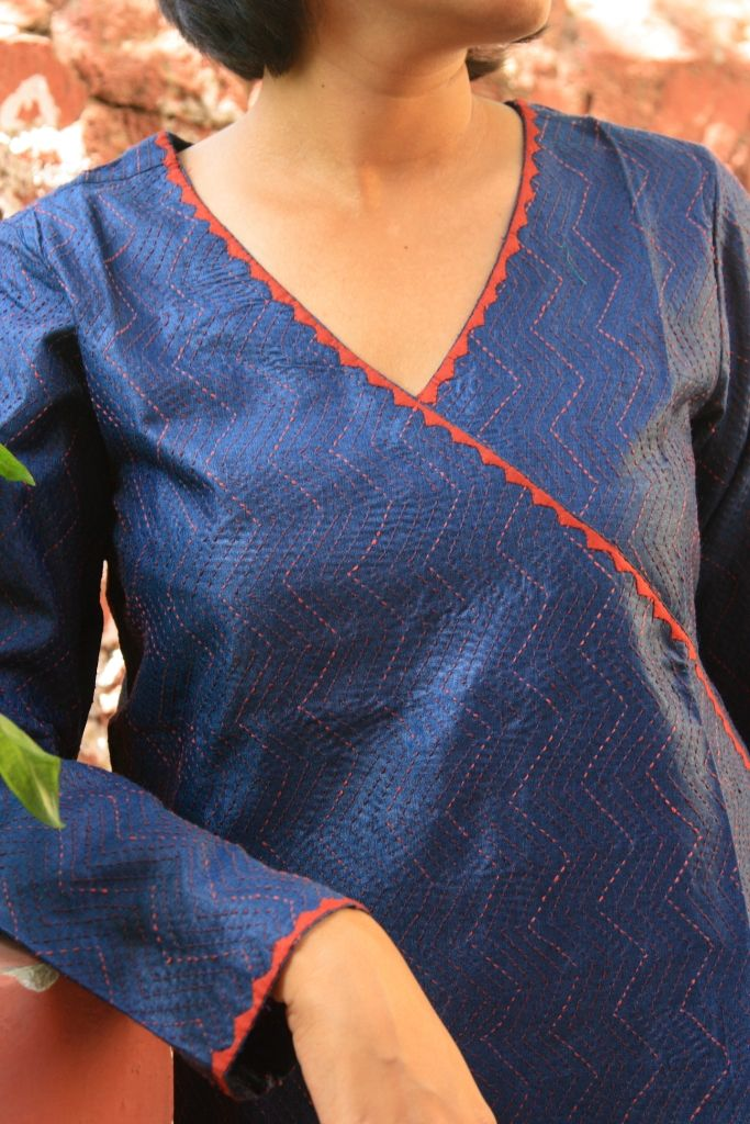 Double layer silk kurta- Sadhna