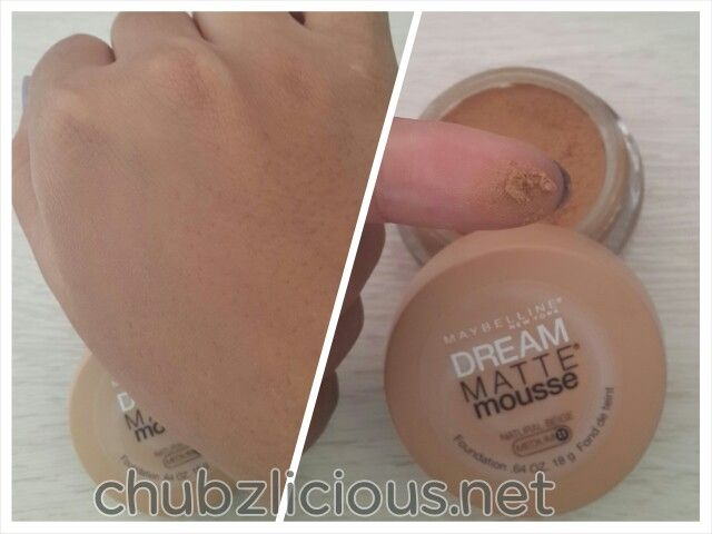 Maybelline dream matte mousse swatch