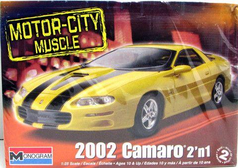 2002 Chevy Camaro Monogram Model Kits 1/25 New Plastic Car Model – Shore Line Hobby