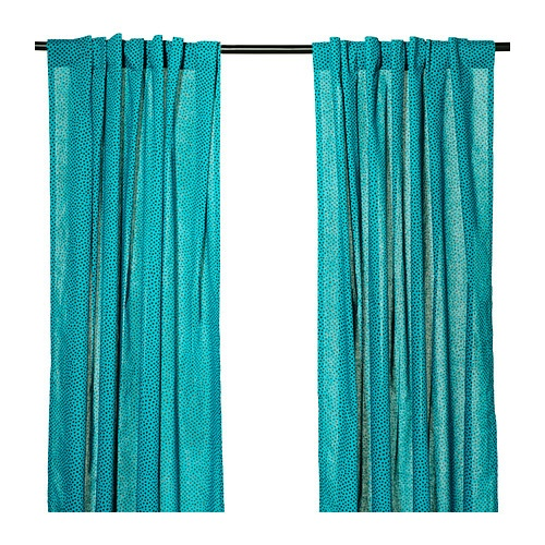 NÄTVIDEPair of curtains, blue-red