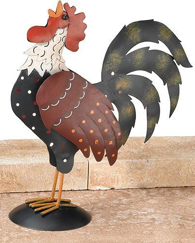 126 Best Rooster/Chicken Figurines Images On Pinterest